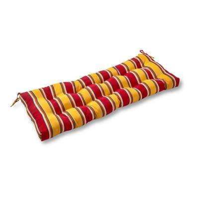 Carnival Stripe Rectangle Outdoor Swing/Bench Cushion
