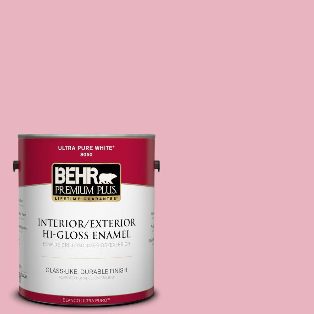 1-gal. #M140-3 Premium Pink Hi-Gloss Enamel Interior/Exterior Paint