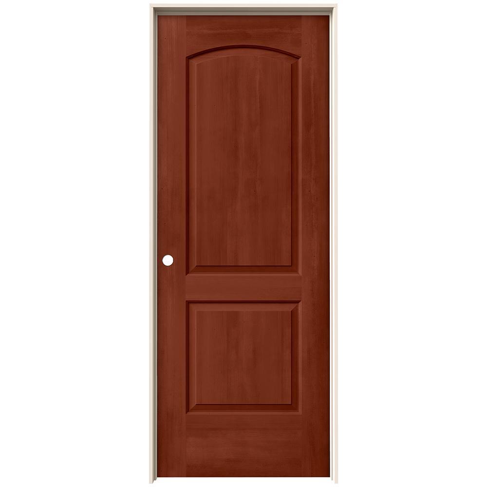 30 in. x 80 in. Continental Amaretto Stain Right-Hand Molded Composite MDF Single Prehung Interior Door
