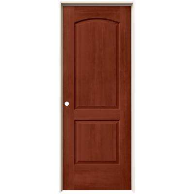 30 in. x 80 in. Continental Amaretto Stain Right-Hand Solid Core Molded Composite MDF Single Prehung Interior Door