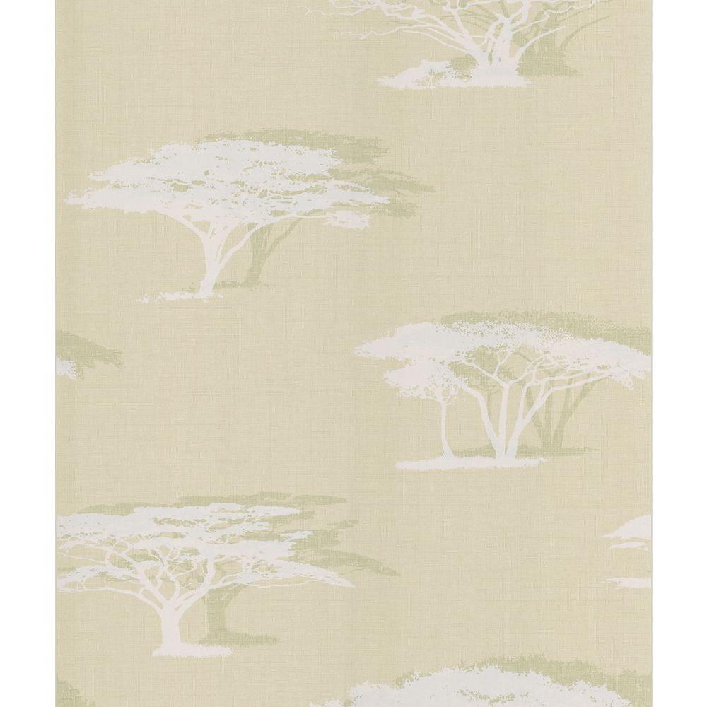 Cream Serengeti Tree Wallpaper Sample