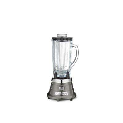 Black Stainless 40 oz. Classic Bar Blender with Glass Jar