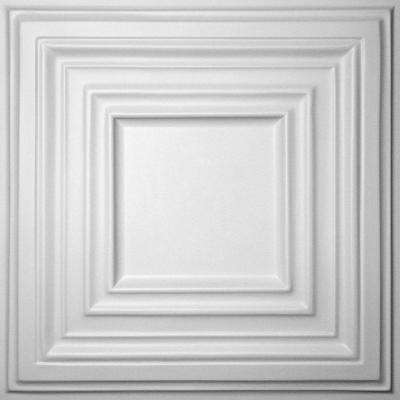 Bistro White 2 ft. x 2 ft. Lay-in or Glue-up Ceiling Panel (Case of 6)