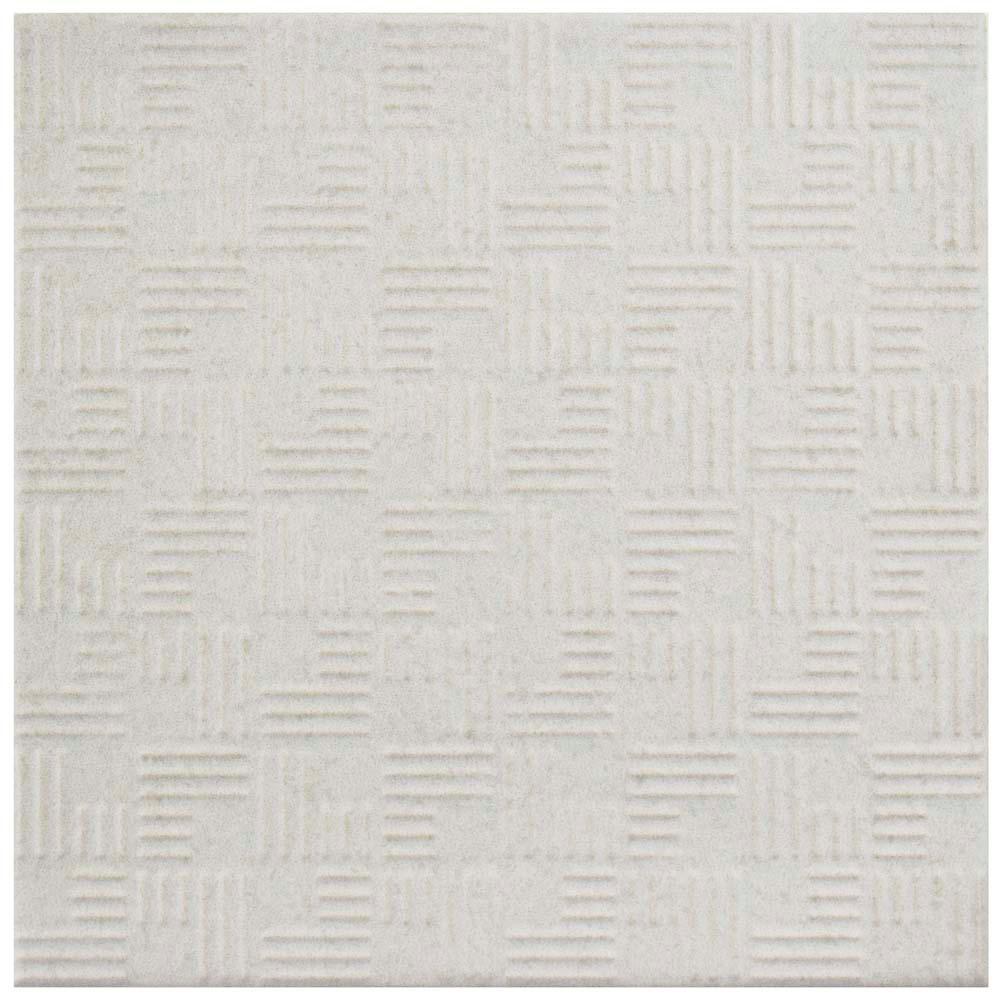 Merola Tile Lisse White 13 In X 13 In Porcelain Floor