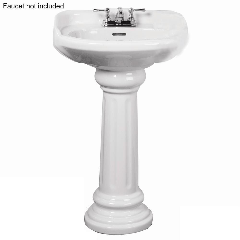 series basin in home white p pedestal depot fl foremost combo sink combos bathroom