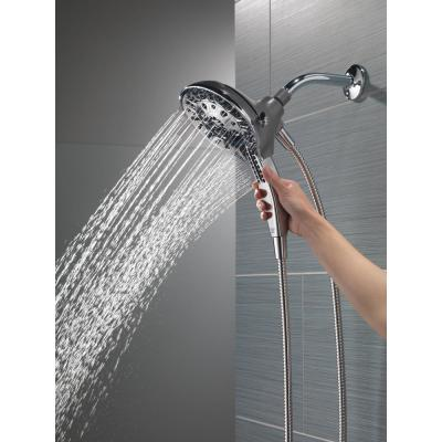 In2ition Two-in-One 5-Spray 6 in. Dual Wall Mount Fixed and Handheld Shower Head in Chrome