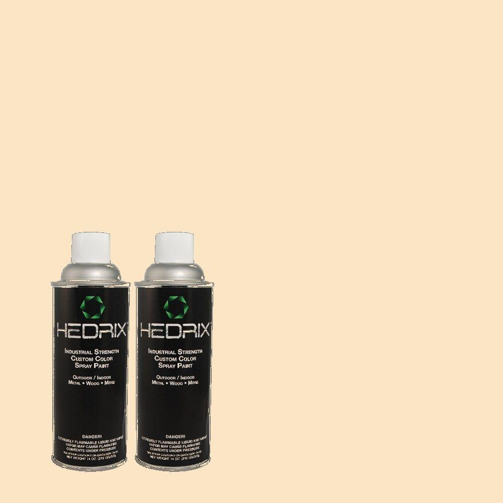 Hedrix 11 oz. Match of 300C-2 Sand Dollar White Low Lustre Custom Spray Paint (2-Pack)