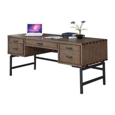 Fremont Toffee 70 In. Half Ped Desk