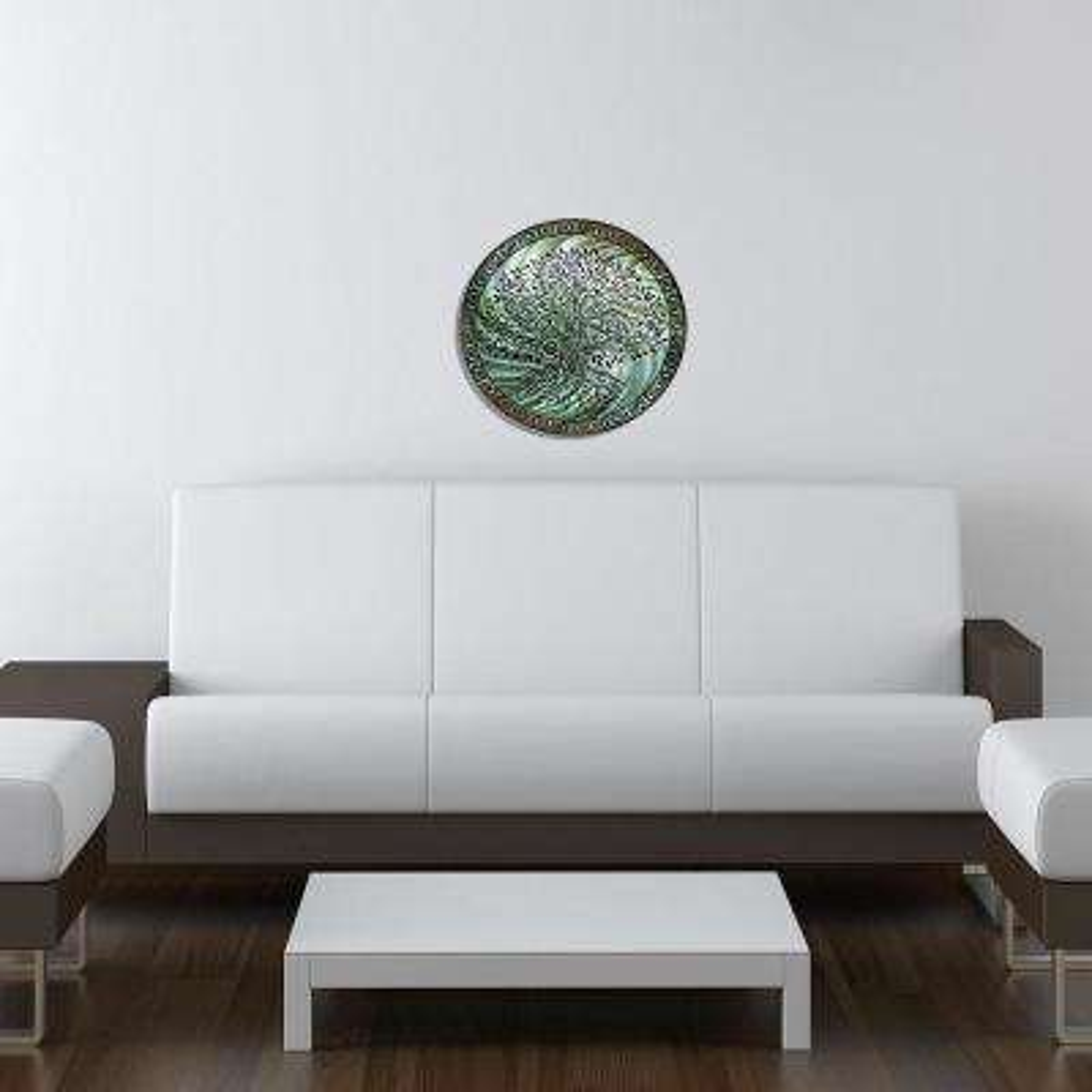 Tree of Life Teal Steel Wall Art