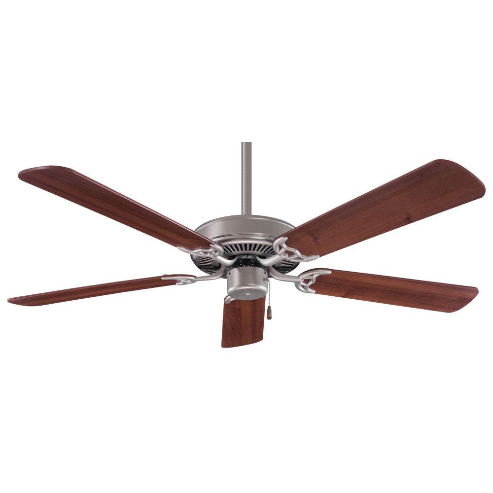 Minka-Aire Contractor 52 in. Indoor Brushed Steel with Dark Walnut Ceiling Fan