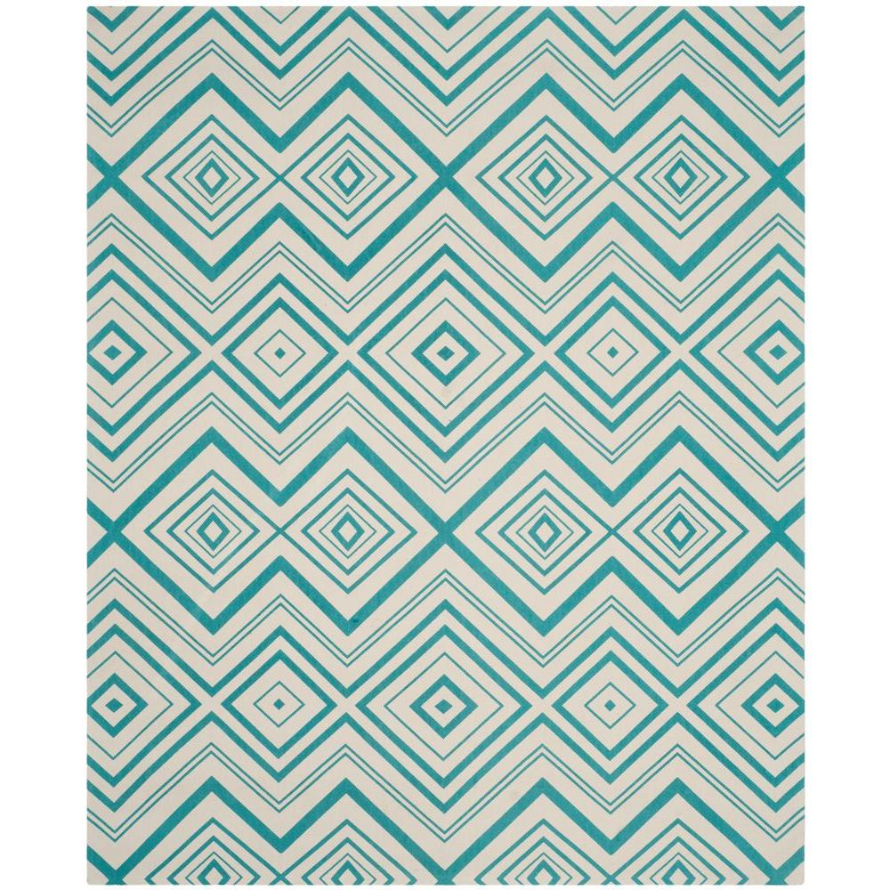 Safavieh Cedar Brook Ivory/Light Teal 8 Ft. X 11 Ft. Area