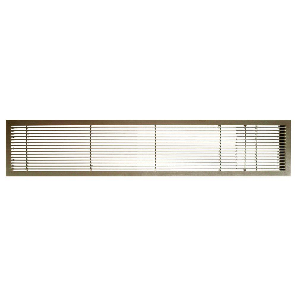 AG10 Series 6 in. x 36 in. Solid Aluminum Fixed Bar