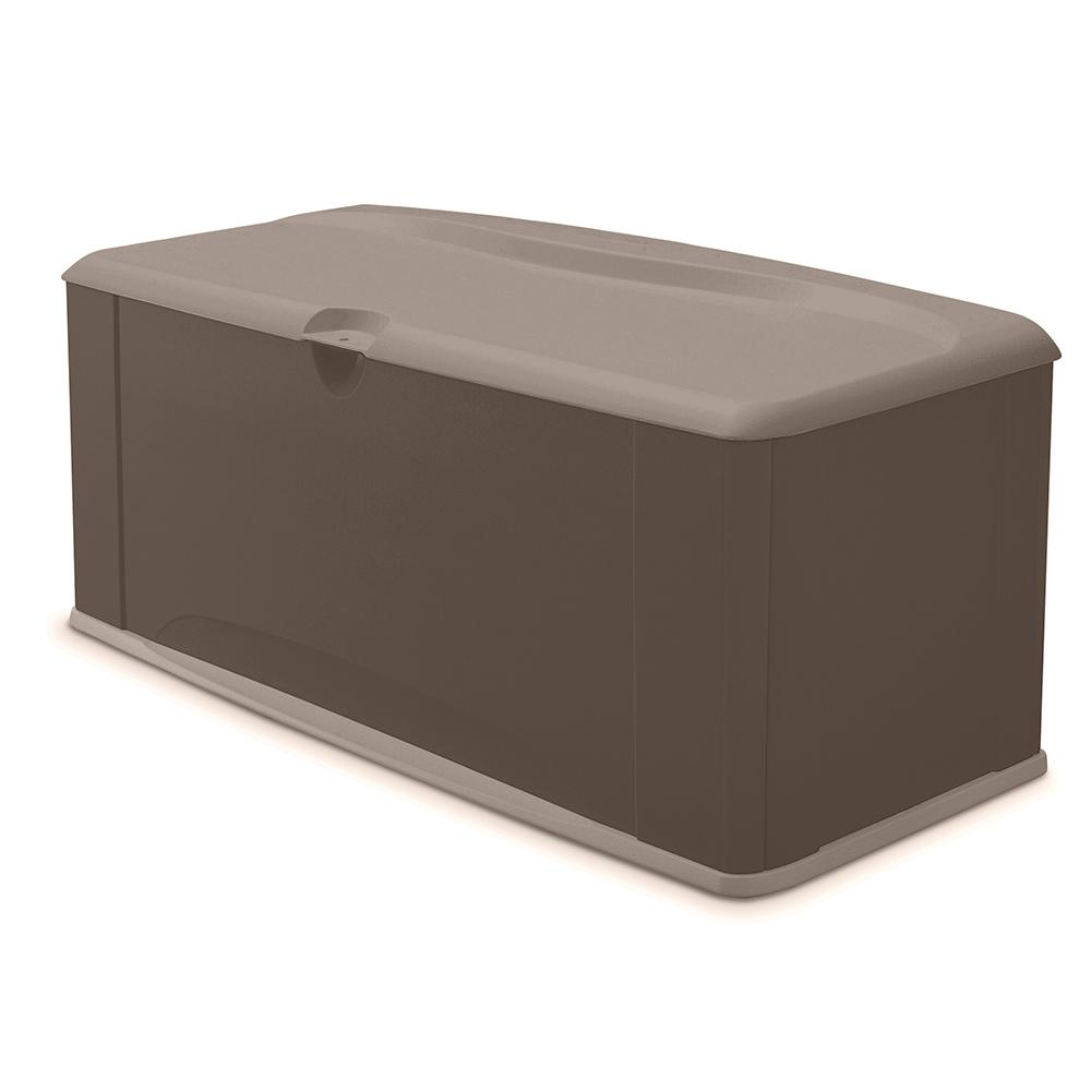 Rubbermaid 120 Gal Resin Deck Box With Seat 2047052 The Home Depot