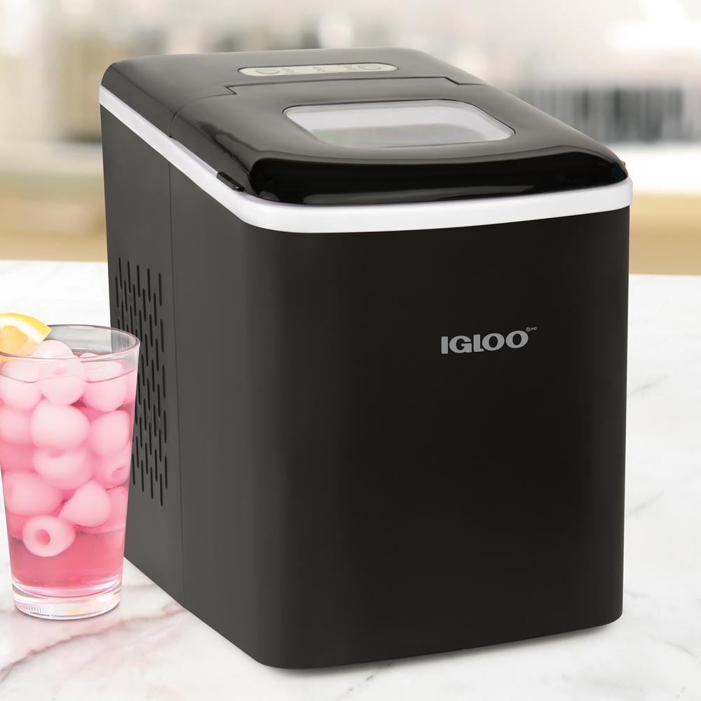 26 lb. Portable No Handle Ice Maker in Black
