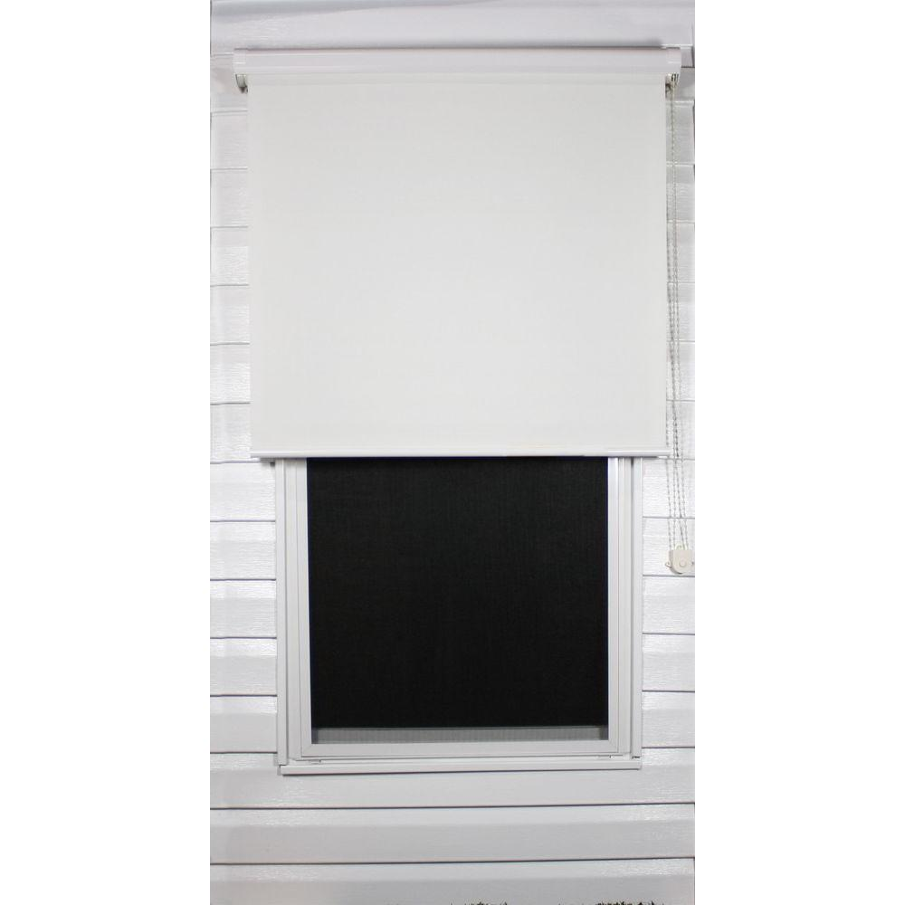 Coolaroo White Exterior Roller Shade, 92% UV Block (Price Varies by Size)-DISCONTINUED
