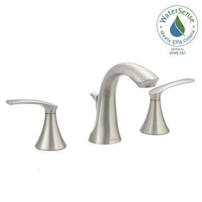 Darcy 8 in. Widespread 2-Handle High-Arc Bathroom Faucet in Spot Resist Brushed Nickel