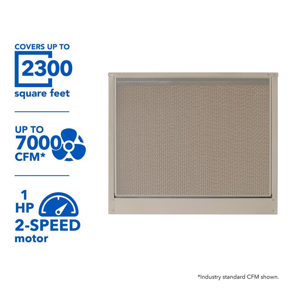 Mastercool 7000 Cfm 230 Volt 2 Speed Down Draft Roof 12 In