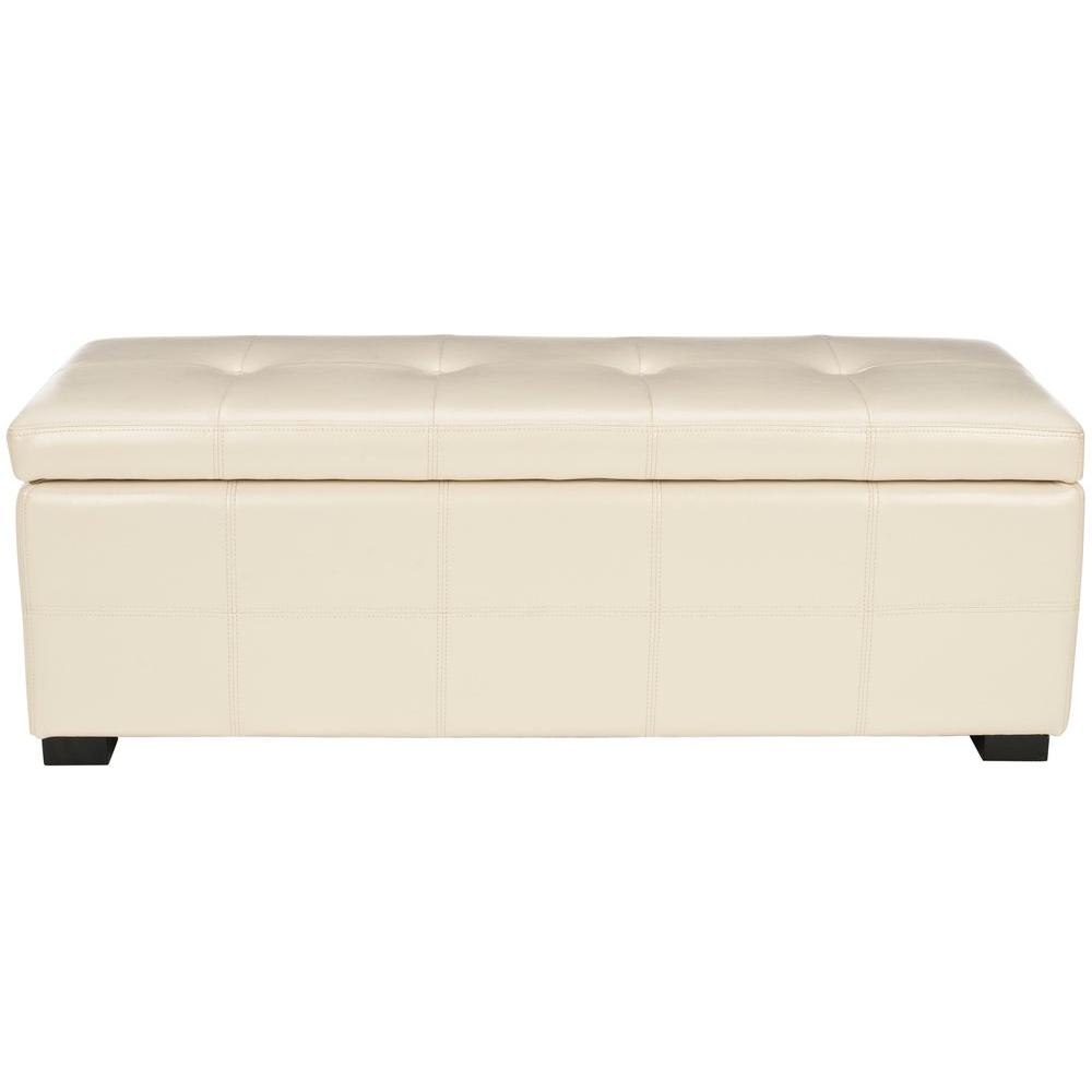 Safavieh Maiden Flat Cream Storage Bench