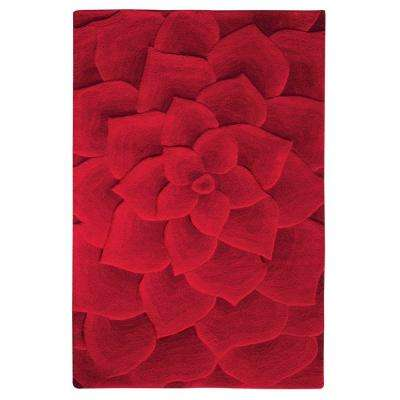 Corolla Red 4 ft. x 6 ft. Area Rug