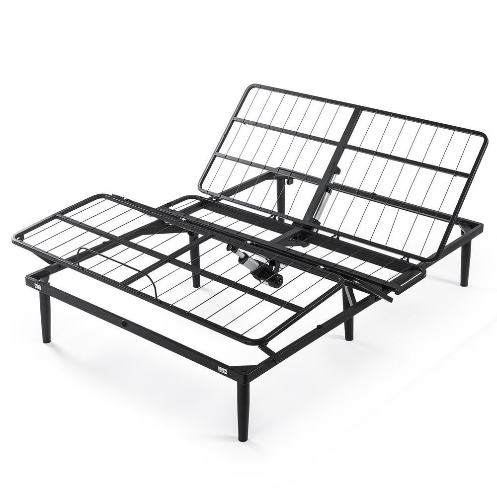 Jared Black Metal Queen Adjustable Bed