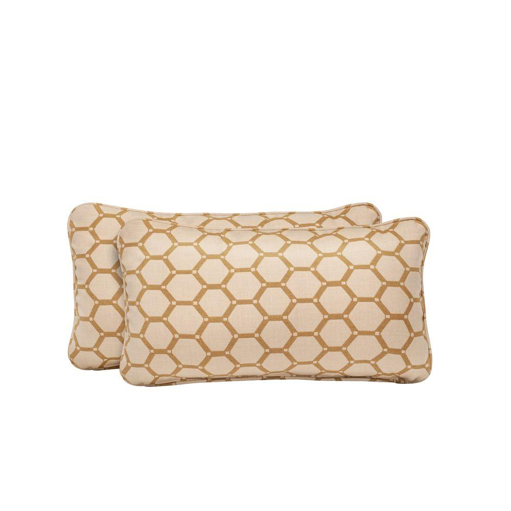 Brown Jordan Vineyard Tessa Barley Outdoor Lumbar Pillow (2-Pack)