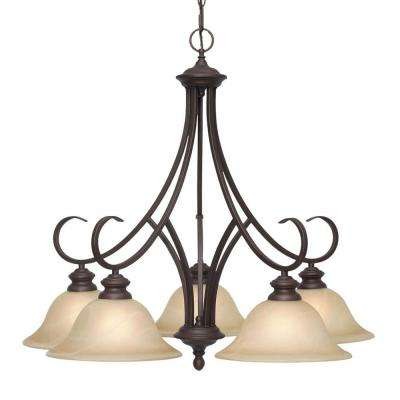 Lancaster Collection 5-Light Rubbed Bronze Chandelier