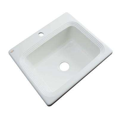 Rochester Drop-In Acrylic 25 in. 1-Hole Single Bowl Kitchen Sink in Ice Grey