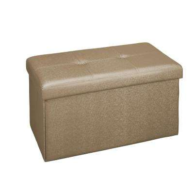 Metallic Bronze Double Folding Ottoman