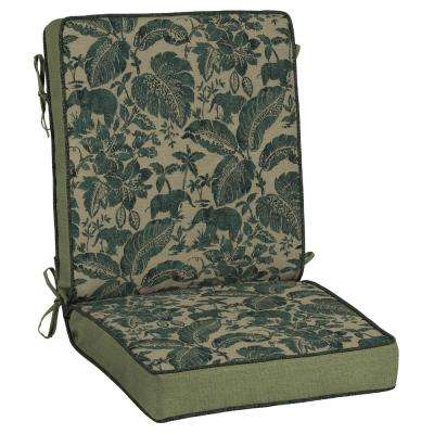 Casablanca Elephant Adjustable Comfort Outdoor Dining Chair Cushion