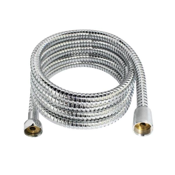100 in. (8.5 ft.) Premium Stainless Steel (SS304) Shower Hose with Brass Fittings and EPDM Inner Hose