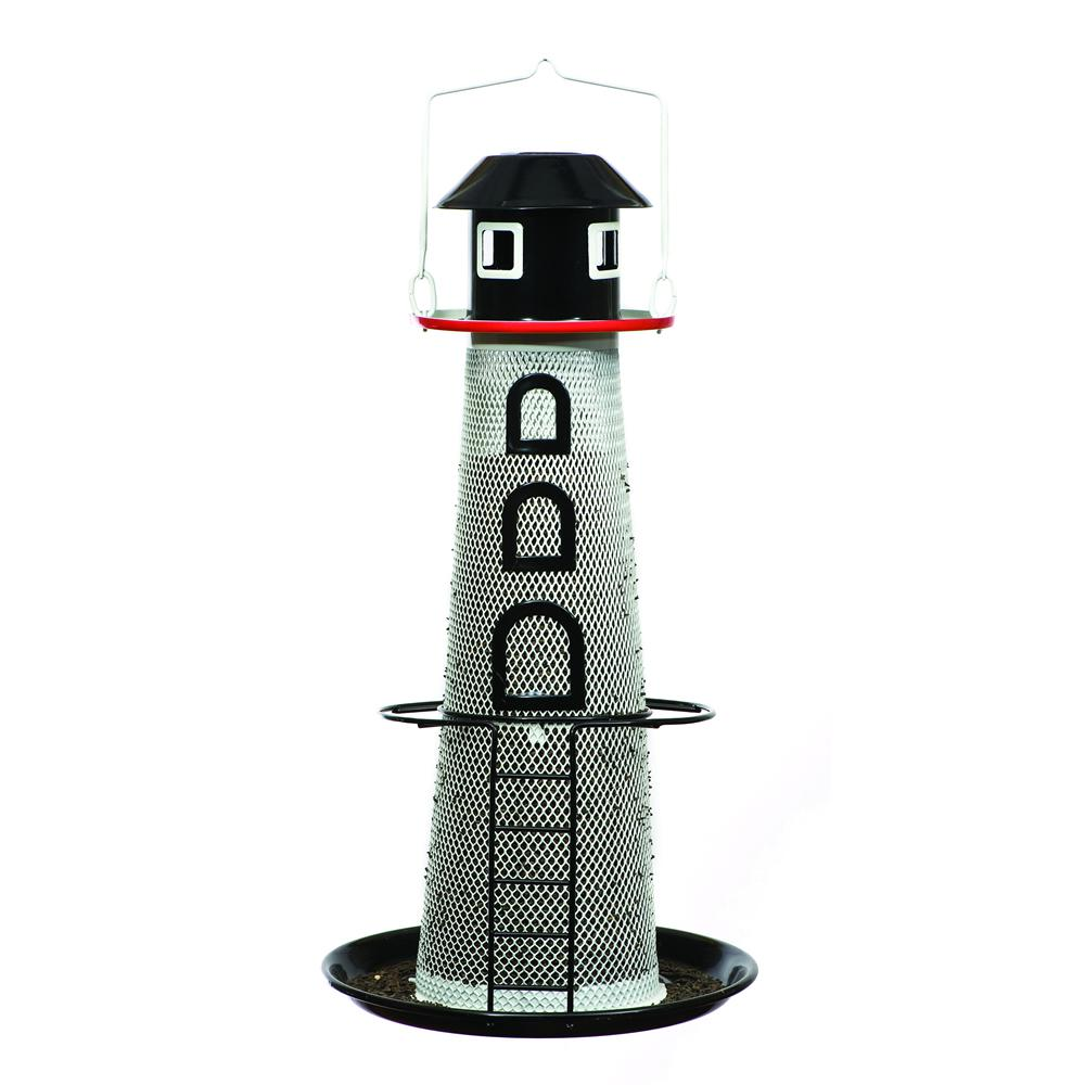 No/No Solar Lighthouse Finch Feeder