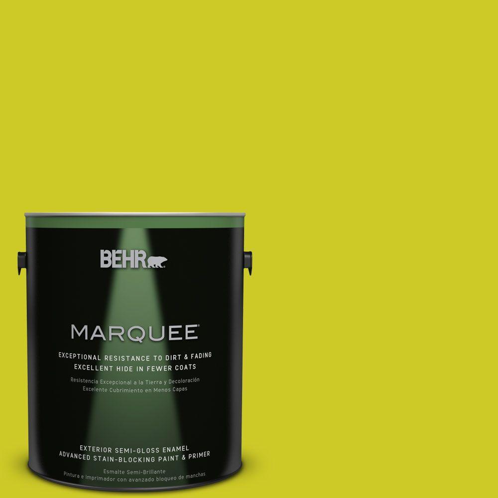 1-gal. #S-G-400 Lime Pop Semi-Gloss Enamel Exterior Paint