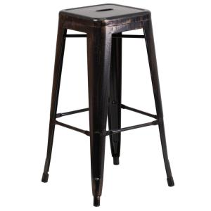 Internet #300954218. Flash Furniture 30 in. Black and Antique Gold Bar Stool  sc 1 st  The Home Depot & Flash Furniture 30 in. Black and Antique Gold Bar Stool ... islam-shia.org
