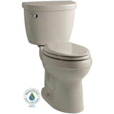 Cimarron 2-piece 1.28 GPF High Efficiency Elongated Toilet with AquaPiston Flushing Technology in Sandbar