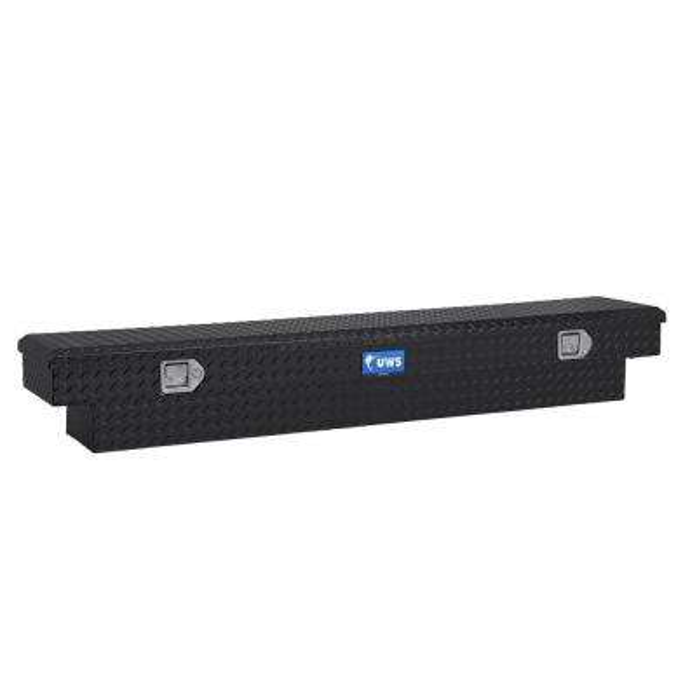 72 in. Aluminum Black Single Lid Crossover Slim Line Tool Box