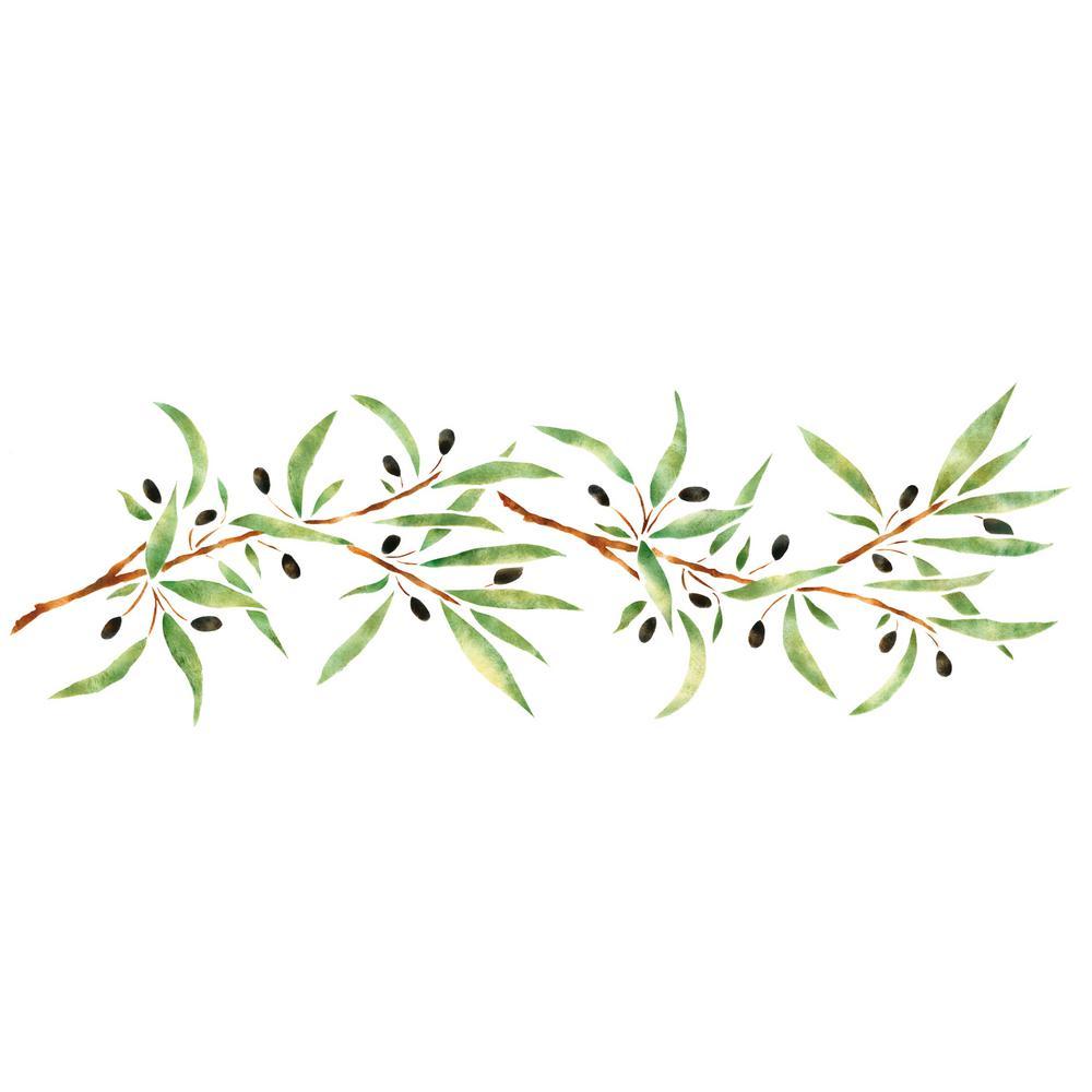 Olive Branch Wall Stencil Border 2071
