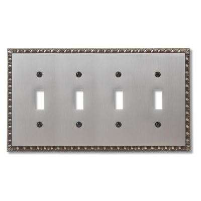 Renaissance 4 Toggle Wall Plate - Antique Nickel
