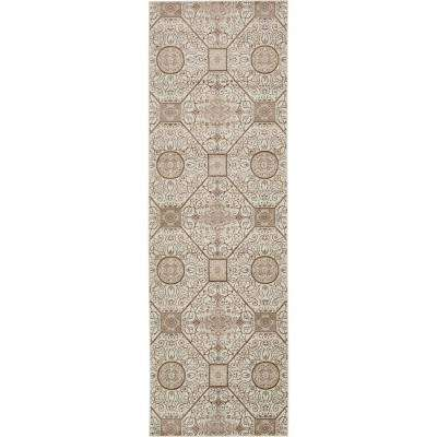 "Rushmore Cream 3' x 9'10"" Runner Rug"