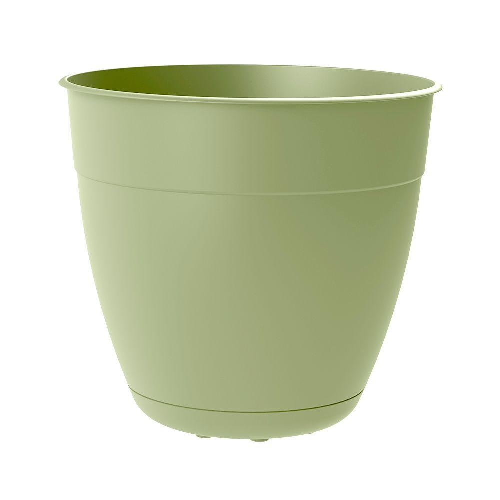null Dayton 8 in. Dia. X 11.5 in. Tall Lotus Green Plastic Planter (Case of 24)