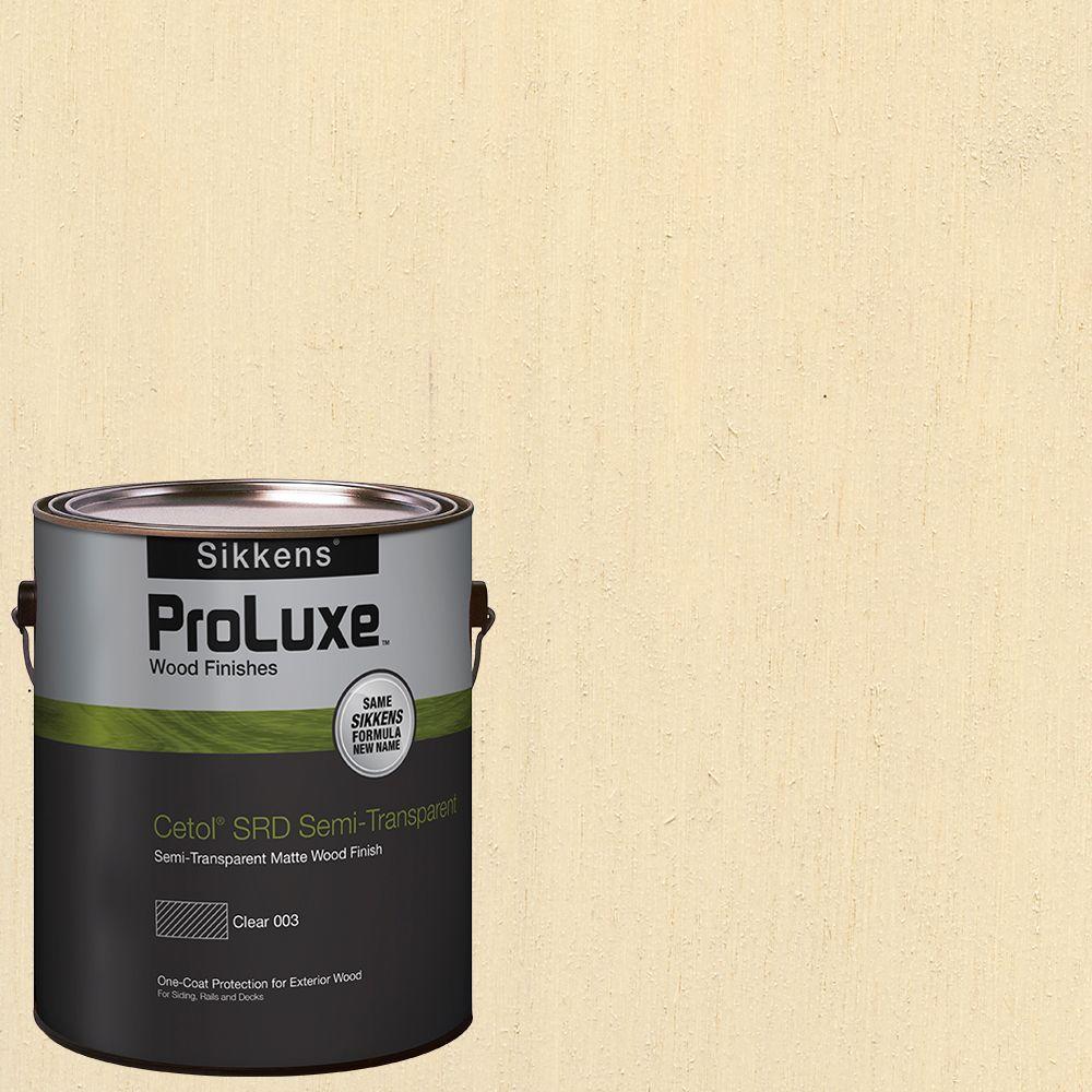 Sikkens ProLuxe 1-gal. #hdgsrd-ST-231 Navajo White Cetol SRD Semi-Transparent Exterior Wood Finish -  HDGSRD-ST500-231-01