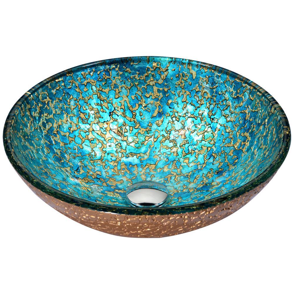ANZZI Chrona Series Vessel Sink in Gold/Cyan Mix-LS-AZ209 - The Home ...