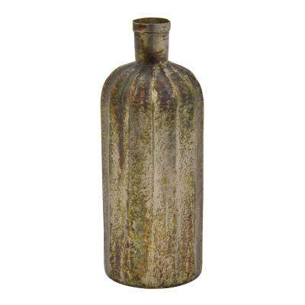 14.25 in. Bronze Metal Vase