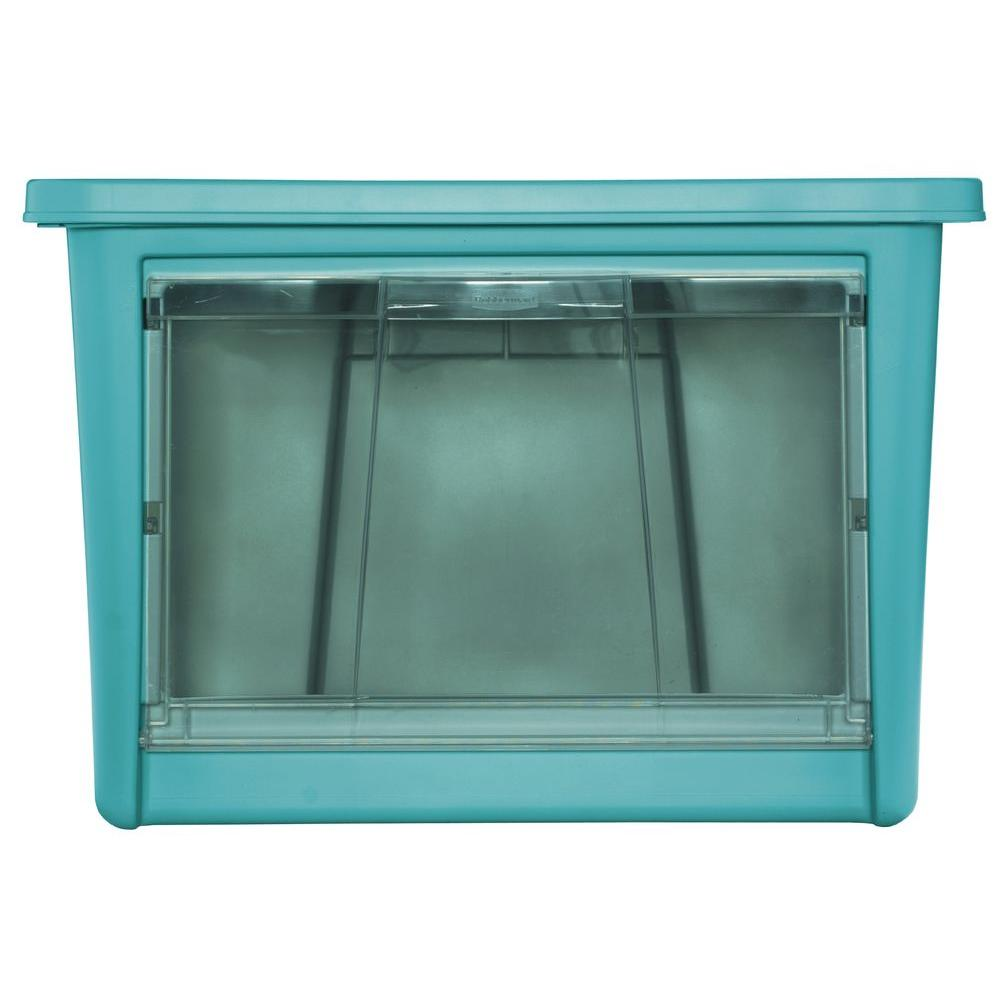 Rubbermaid 22.0 in. L x 17.5 in. W x 15.1 in. H Large Access Organizer in Turquoise
