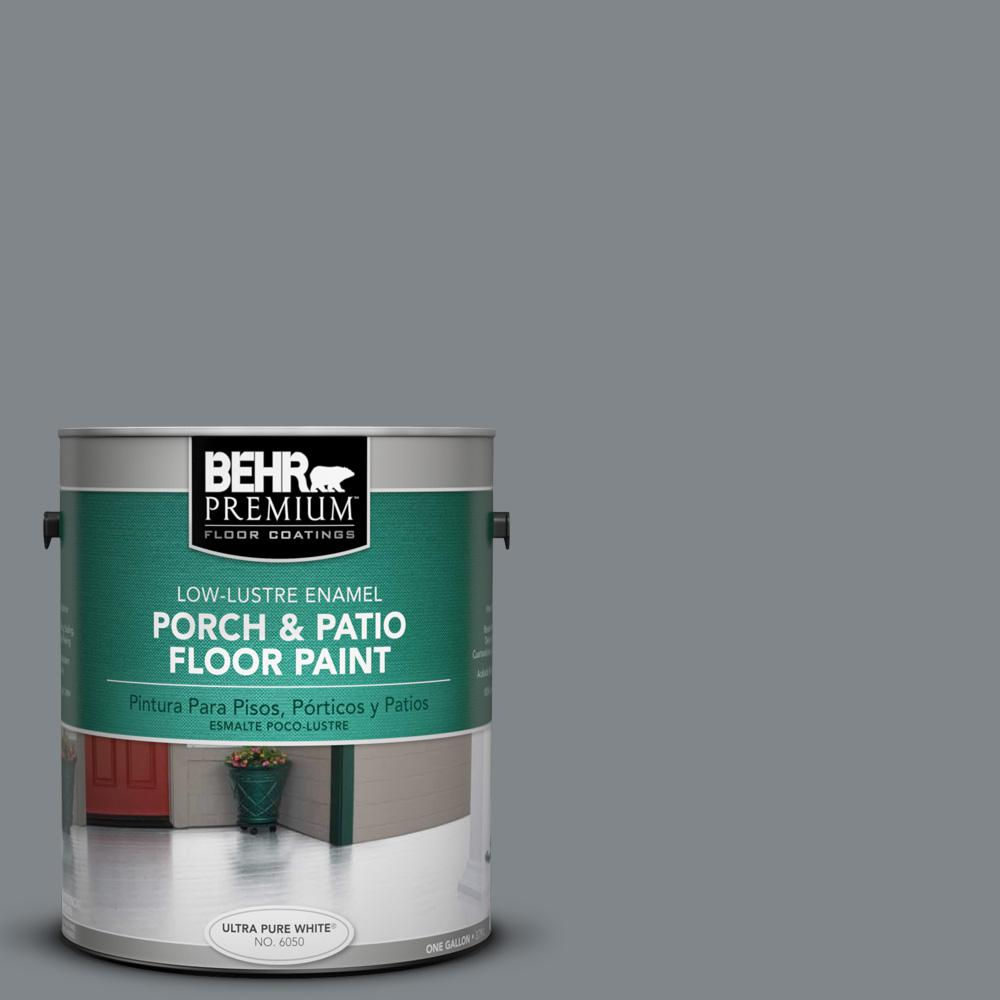 1 gal. #N500-5 Magnetic Gray color Low-Lustre Interior/Exterior Porch and Patio