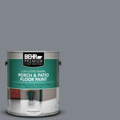 1 gal. #N500-5 Magnetic Gray color Low-Lustre Porch and Patio Floor Paint