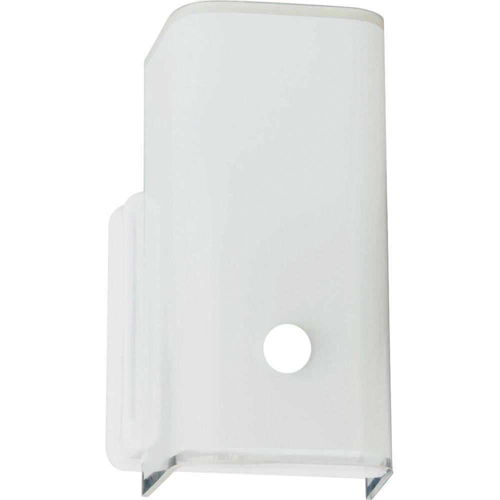 Progress Lighting P3813-30 Wall Sconce with White Glass White