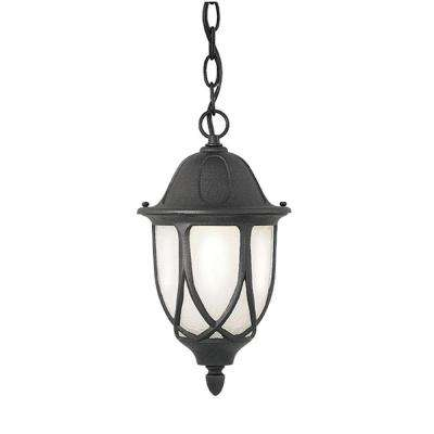 Capella Collection Hanging Outdoor Black Foyer Light