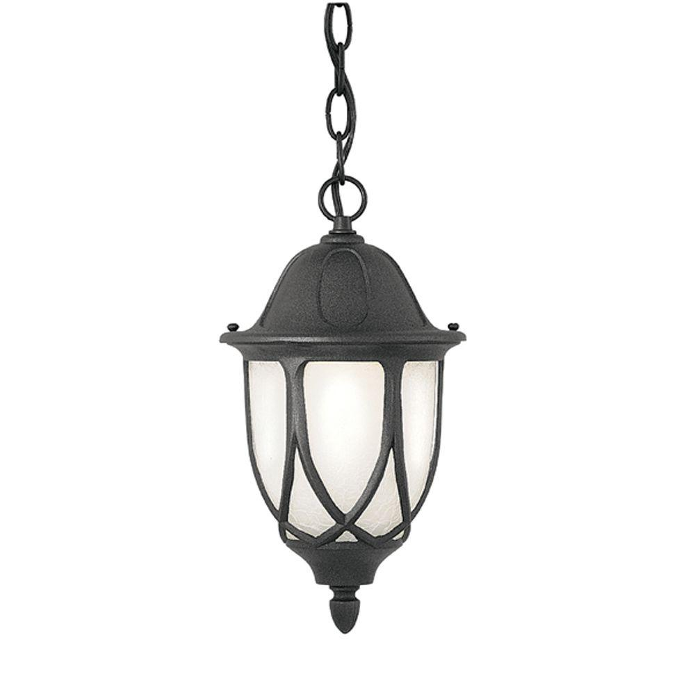 Greenwood Collection Hanging Outdoor Black Foyer Light