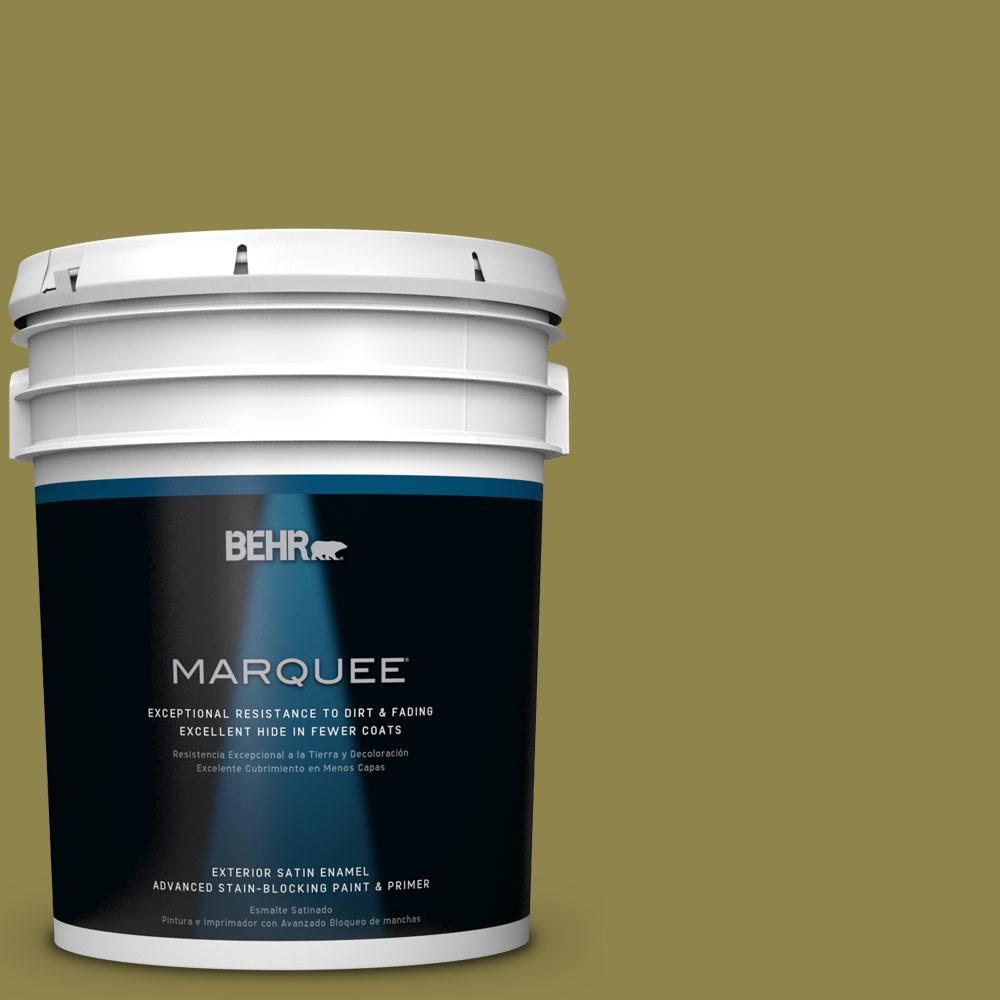 BEHR MARQUEE 5-gal. #PPU9-2 Lucky Bamboo Satin Enamel Exterior Paint