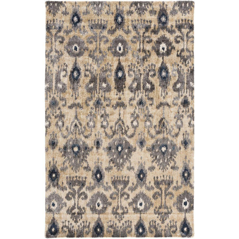 Pinamar Black 5 ft. x 8 ft. Indoor Area Rug